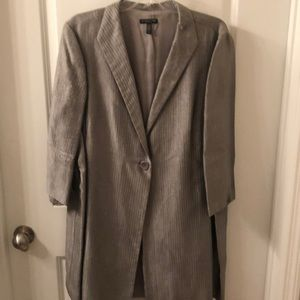 Women's silver gray jacket size 1x